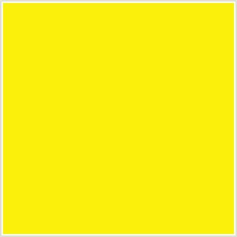 lemon yellow color fcf00d hex color rgb 252 240 13 lemon yellow