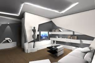 Futurism in the hotel interior is a modern apartment with a wide range