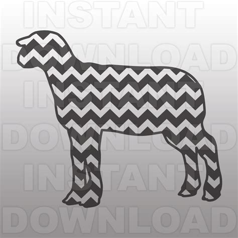 chevron pattern svg file chevron pattern sheep svg file4h ffa livestock svg file