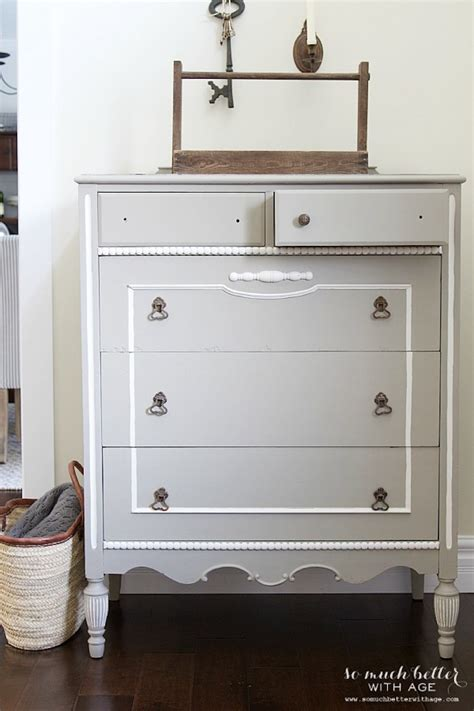 Grey Vintage Dresser by It S All About The Details Painted Dresser Details