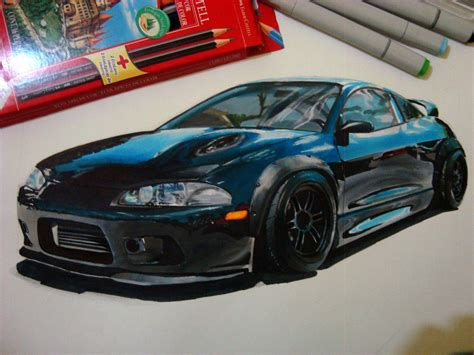 mitsubishi eclipse drawing mitsubishi eclipse gsx drawing stancenation rb artworks