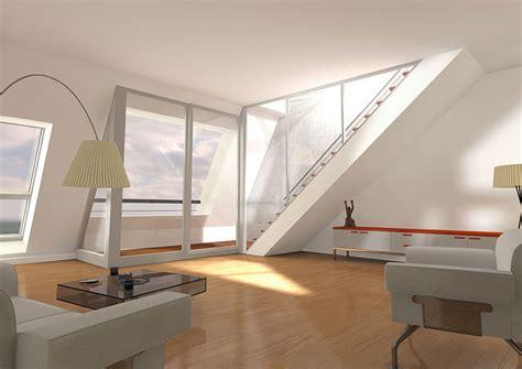 design agentur berlin gieselerstrasse dachgeschoss 3d innenraumvisualisierung