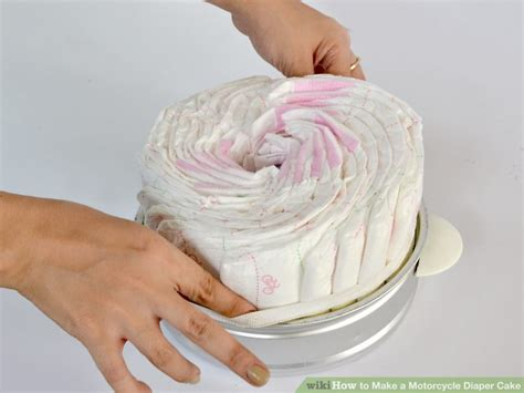 How To Make A Cake From Diapers For Baby Shower by How To Make A Motorcycle Cake With Pictures Wikihow