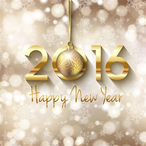 new year 2012 golden golden happy new year bokeh background vector free