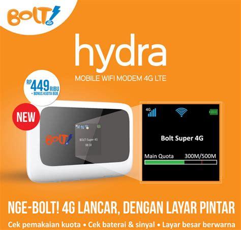 Modem Bolt Biasa bolt hydra zte mf910 mobile hotspot wifi 4g lte 72 mbps kartu perdana 8gb white