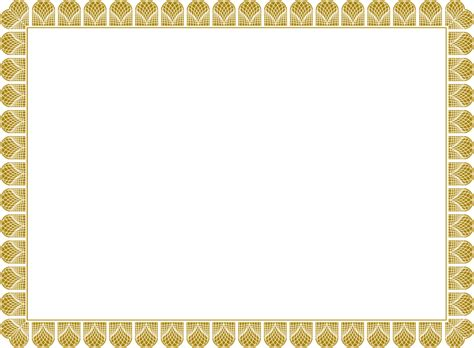 Golden Border Certificate Templates   Blank Certificates