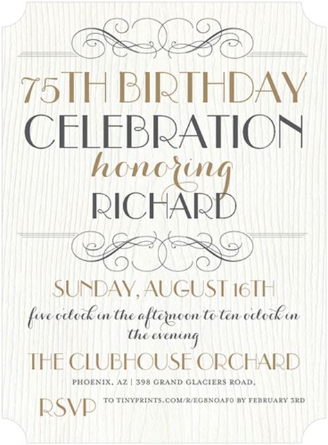 75th Birthday Invitation Templates 16 75th birthday invitations unique ideas birthday