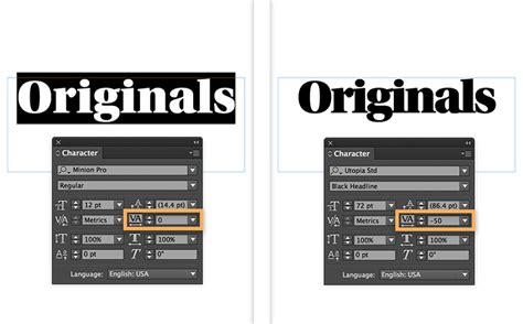 illustrator kerning tutorial adjust letter spacing tracking and kerning in indesign