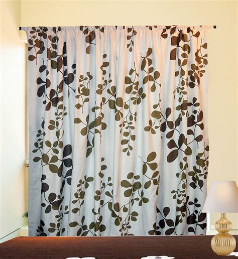 printed panel curtains flower printed blackout window door balcony curtains one