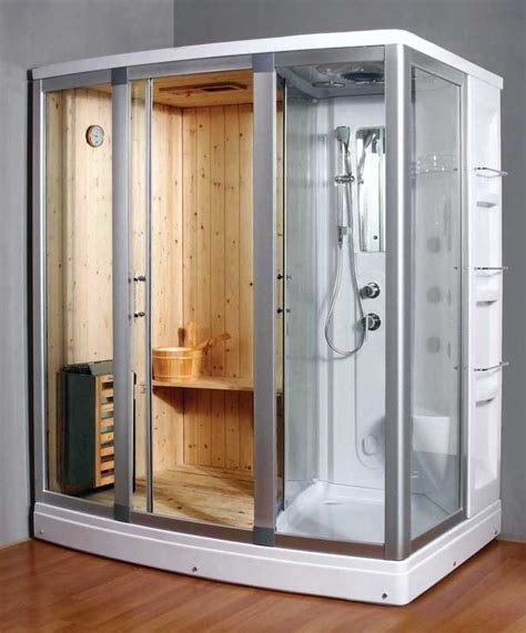 Ariel Platinum Dz972f8w White Steam Shower Unit Dz972 Room Bathroom Sauna Showers