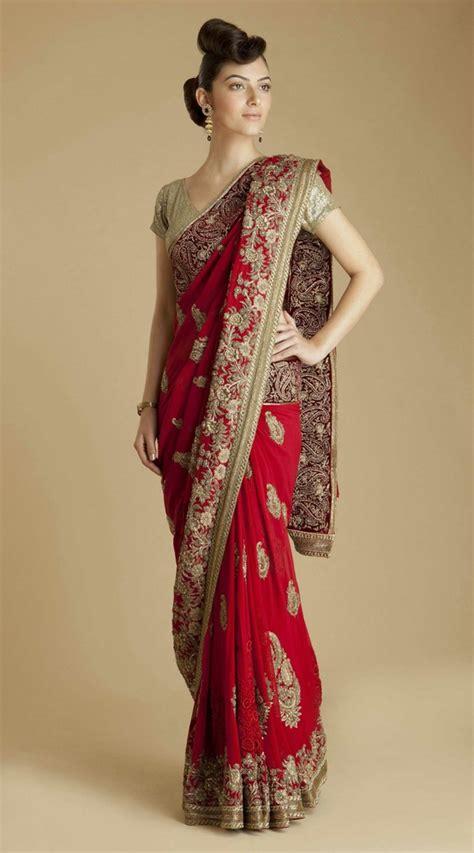 And Gold Sari bridal sarees asian wedding ideas