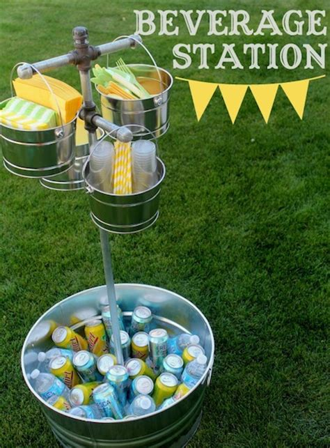 diy backyard party ideas diy outdoor beverage station craftfoxes