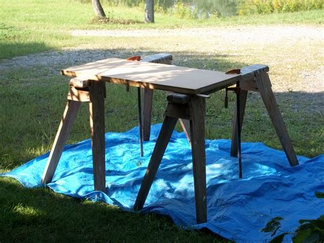 outdoor work benches i saw miles and miles of biscuits