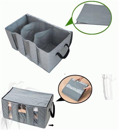 Box Traveling Tempat Penyimpanan Pakaian Dalam tas tempat baju organizer bamboo storage box gratis ongkos kirim