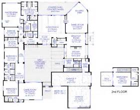 Custom Modern Home Plans by Luxury Modern Courtyard House Plan