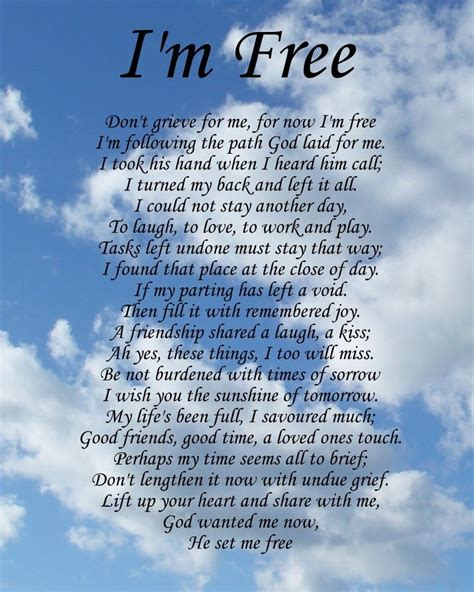 free printable love quotes and poems i m free memorial poem birthday mothers day funeral