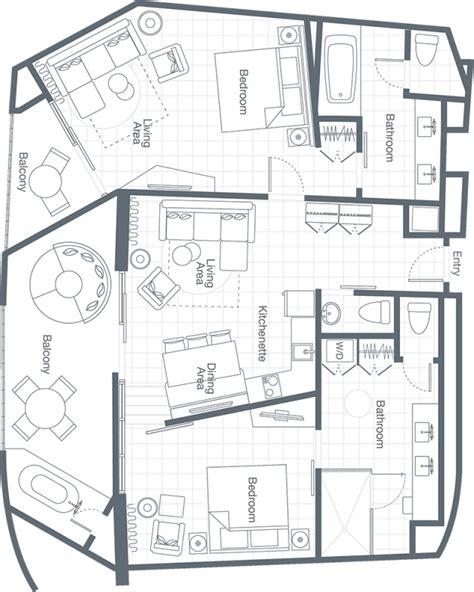 2 Bedroom Villa Floor Plans Two Bedroom Premium Villa The Westin Los Cabos Resort