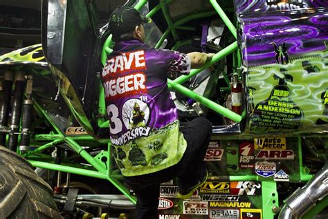 how to become a monster truck driver for monster jam we crush the cars inside the monster truck arena kcur