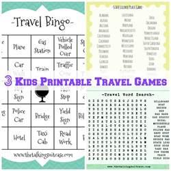 kids printable travel games i printable childrens travel games