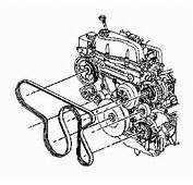 Diagrams Of Serpentine Engine Drive Belt Routing For The GM 42 Liter