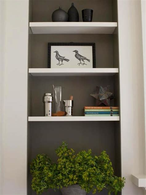 recessed nook wall painted  accent color