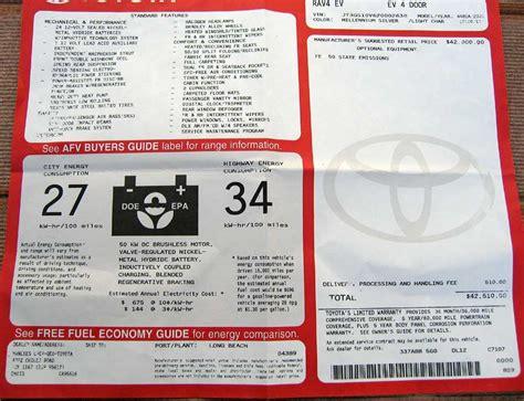 Toyota Window Sticker By Vin Toyota Original Window Sticker By Vin Autos Post