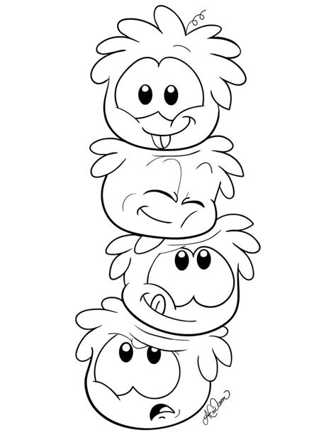 Puffles Coloring Pages free printable puffle coloring pages for
