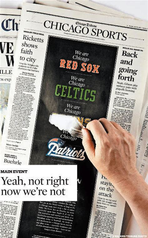 chicago tribune sports section chicago tribune sports section takes back part of boston
