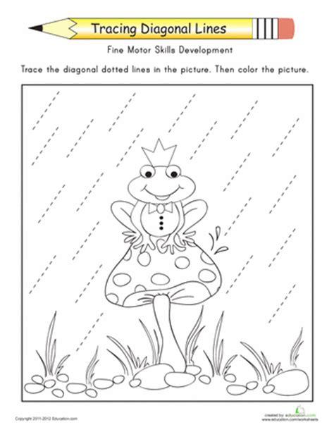standing line pattern worksheets for kindergarten tracing diagonal lines complete the frog prince