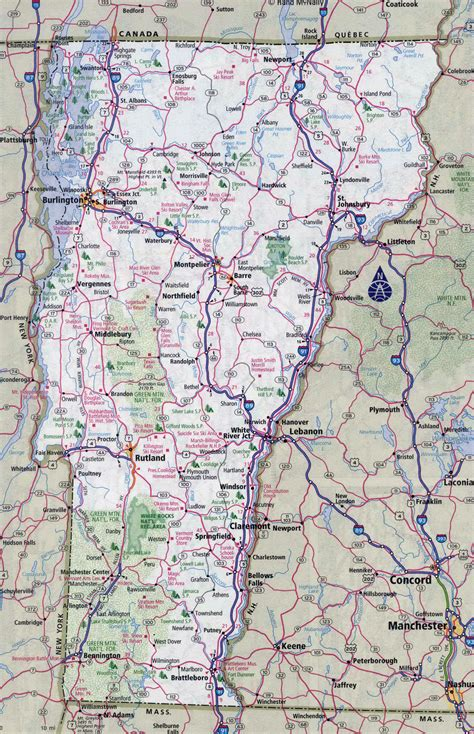 map of vermont large detailed roads and highways map of vermont state