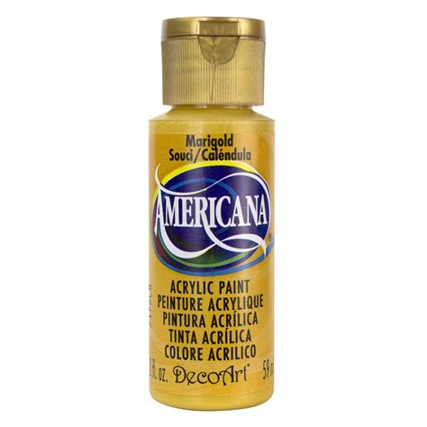 Acrylic Paint decoart americana 2 oz marigold acrylic paint da194 3 the home depot