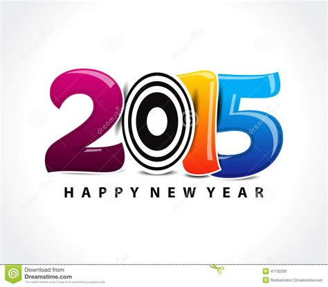 happy new year text vector colorful happy new year 2015 text stock vector image