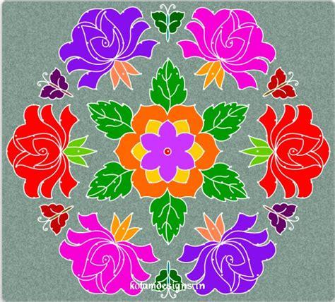 New Design Flower Kolam With Dots | january 2013 entertainment