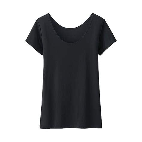 Uniqlo Tshirt Wanita uniqlo wanita airism t shirt scoop neck lengan pendek