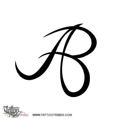 tattoo letter b designs of a b monogram union custom
