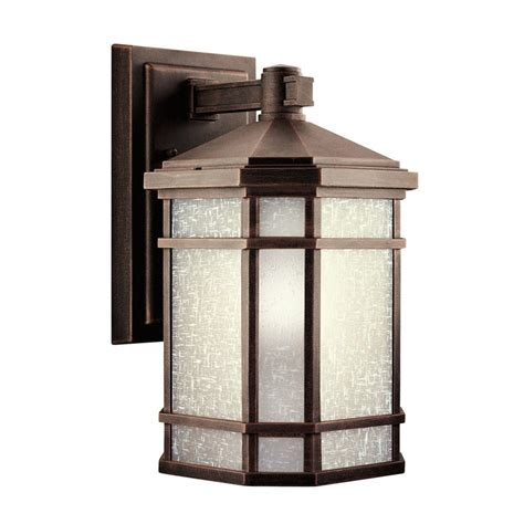 Shop Kichler Cameron 14 25 In H Prairie Rock Outdoor Wall Patio Wall Lighting