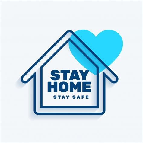 stay  home stay safe concept background  vector
