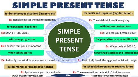 Simple Present Tense | simple present tense english grammar english study page