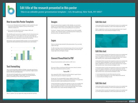 poster layout in powerpoint presentation poster templates free powerpoint templates