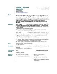 Resume For Nurses Free Sample Nursing Resume Templates Easyjob Easyjob