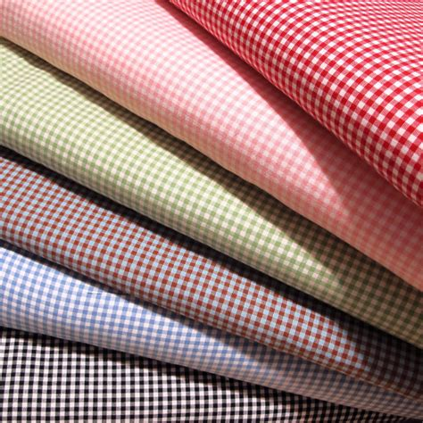 a 1 upholstery gingham 1 8 checkered poly cotton fabric prints 60 quot wide