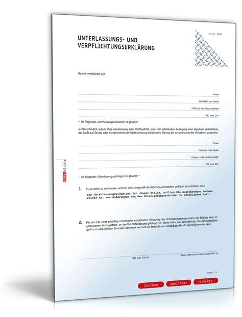 Musterbriefe Beschwerde Kostenlos Unterlassungserkl 228 Rung 252 Ble Nachrede Muster Zum