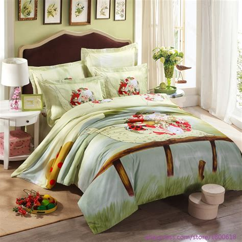 summer bed sheets 100 cotton 4pcs bed linen summer wedding bedding sets duvet cover bed sheet green style comfort
