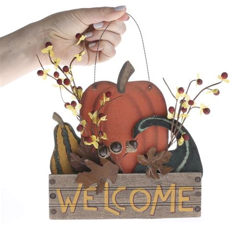 crafts direct for the holidays welcome to quot welcome quot primitive fall hanger wall decor and signs