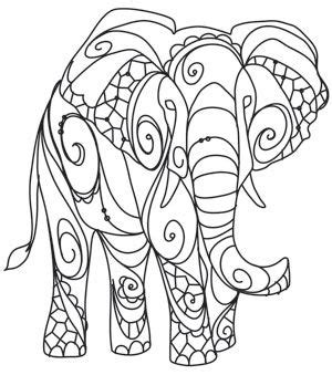 unique elephant coloring pages the delicate ones elephant urban threads unique and