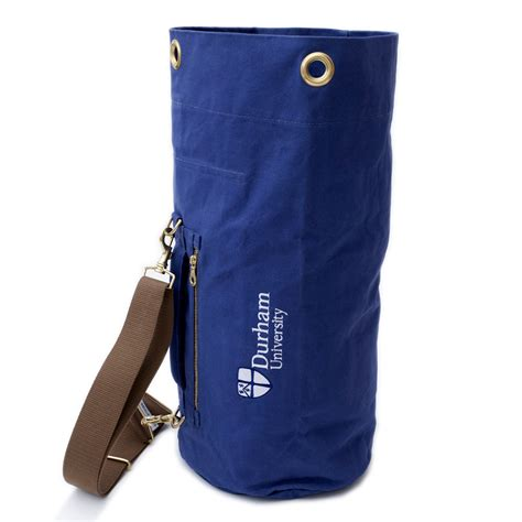 Durham College Letterhead tombag navy blue at durham official shop