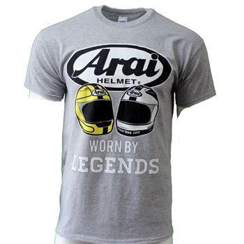 Arai Helmet Tshirt arai legends t shirt gildan heavy cotton grey the visor