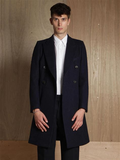 dries noten mens rayce coat in blue for lyst