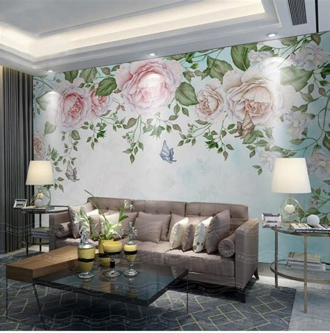 aliexpress buy 3d wallpaper custom photo mural non woven retro flowers petals tv
