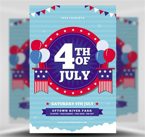 4th Of July Flyer Template 3 Flyerheroes In July Flyer Template